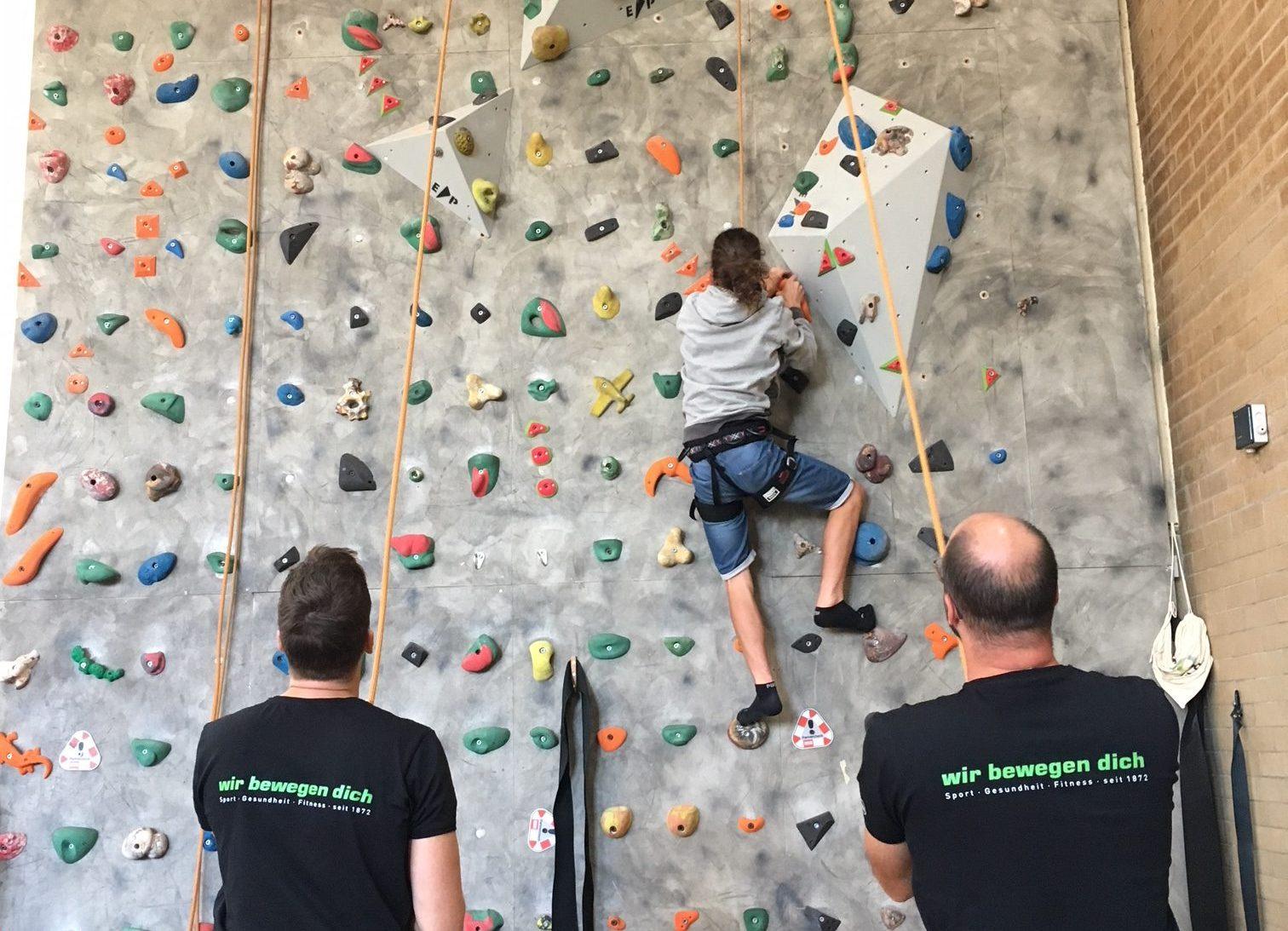 Klettern Spiel und Spaß